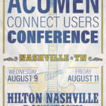 Get Ready for the Acumen Connect Users Conference—August 8–11